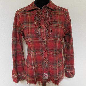 Legendary Whitetails Red Flannel Shirt with Ruffle